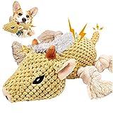 Juguetes para Perros Resistentes con Sonido Peluche Perro Adiestramiento Perros Accesorios Juguetes de Goma Esconder Comida (Jabalí)