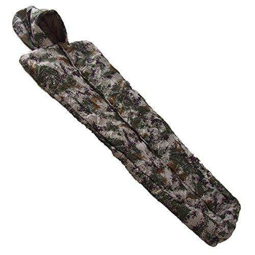 Xin.S Tous Les Sacs De Couchage De Momies De Saison Camping Parfait Trekking Voyage De Sac à Dos. Coque Imperméable Résistante à L'eau,Camouflage-(170+35)*85cm