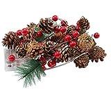 fedsjuihyg Guirnalda De La Navidad con Pilas Encendido Led Mini Cono del Pino De La Guirnalda De La Navidad Decoración Índice Suministro