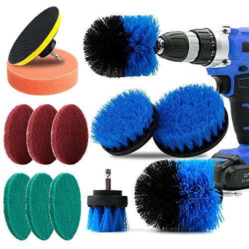 Fancywhoop Cepillo Taladro Eléctrico Brocha para Limpiar Baño Piso Azulejo Esquinas Cocina