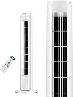 Tower Fan, bärbar oscillerande tyst kylfläkt med fjärrstyrd, 3 hastighetsinställningar, inbyggd timer LED-display Ställ up...