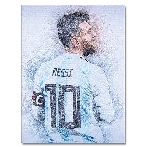 ULIIM Poster di poster di Messi Poster Soccer Star Abstract Sports Silk