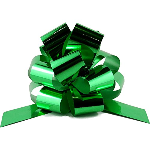 Pull Bow Ribbon - Set of 10 - Perfect for Baskets, Wrap, Bags and Boxes - Holiday Decoration
