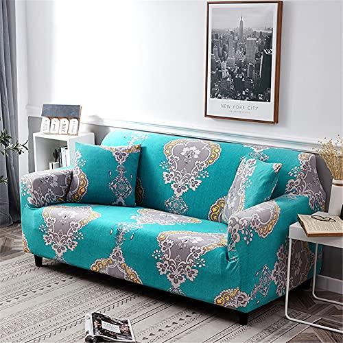 ZIJIAGE Schonbezug Sofa, einfarbige Armlehne Sofabezug Stoff Staubschutz, für Wohnzimmer Pet Dog Furniture Protector,L,4 Seater