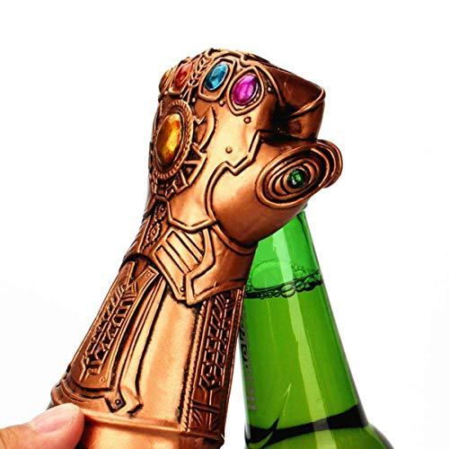 Marquee Barware Thanos Infinity guantelete abrebotellas, abrelatas de botella de cerveza Marvel, Infinity Gauntlet personalizada Cool Desktop cerveza abridor