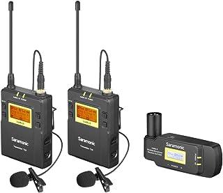 Saramonic UHF - Sistema de micrófono inalámbrico con dos transmisores Bodypack y receptor XLR