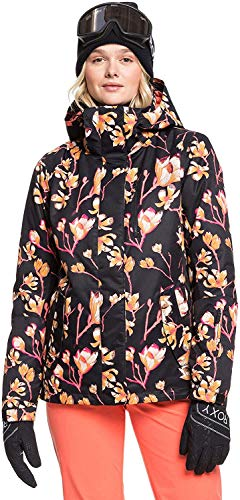 Roxy Damen 0 Snow Jacke, True Black Magnolia, L