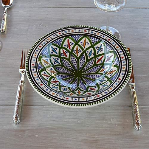 Assiette Tebsi Bakir vert - D 23 cm