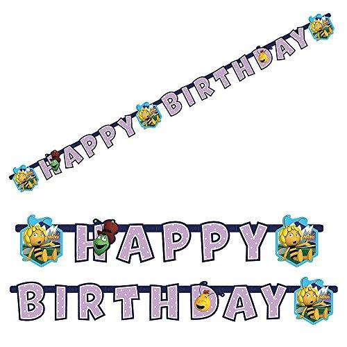amscan–552357–Lichterkette Happy Birthday Biene Maja–180x 15cm