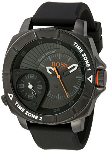 BOSS Orange Men's 1513213 Sao Paulo Stainless Steel Watch with Black Silicone Band