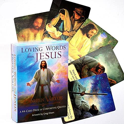 Palabras De Amor De Jesús Tarjetas De Tarot, Tarjetas De Oracle En Inglés Versión 44 Juegos De Mesa, Juegos De La Tarjeta De La Tarjeta De Reunión Familiar