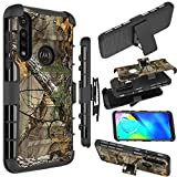 Zoeirc Moto G Power (2020) Case, [Heavy Duty] Armor Shock Proof Dual Layer Phone Protective Case Cover with Kickstand & Belt Clip Holster for Motorola Moto G Power (2020) (Camo)