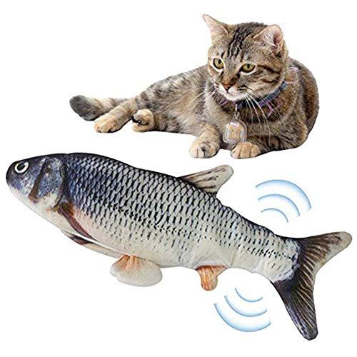 YKX4XJ08电子Catnip鱼仿真玩具与USB为猫带来咬咀嚼训练(三文鱼L)