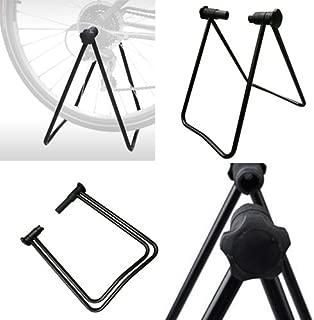 vilobyc 24-29 inch Universal Flexible Foldable Bike Wheel Hub Display Stand Floor Storage Rack Bicycle Repair Kick Stand for Parking Holder fit Wheel Size