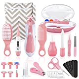 Baby Grooming Kit, 28 in 1 Baby Electric Nail Trimmer Set Baby Nursery Healthcare Kit for Newborn Infant, Toddlers Baby Haircut Tools, Nail Clippers, Medicine Dispenser Keep Healthy and Clean