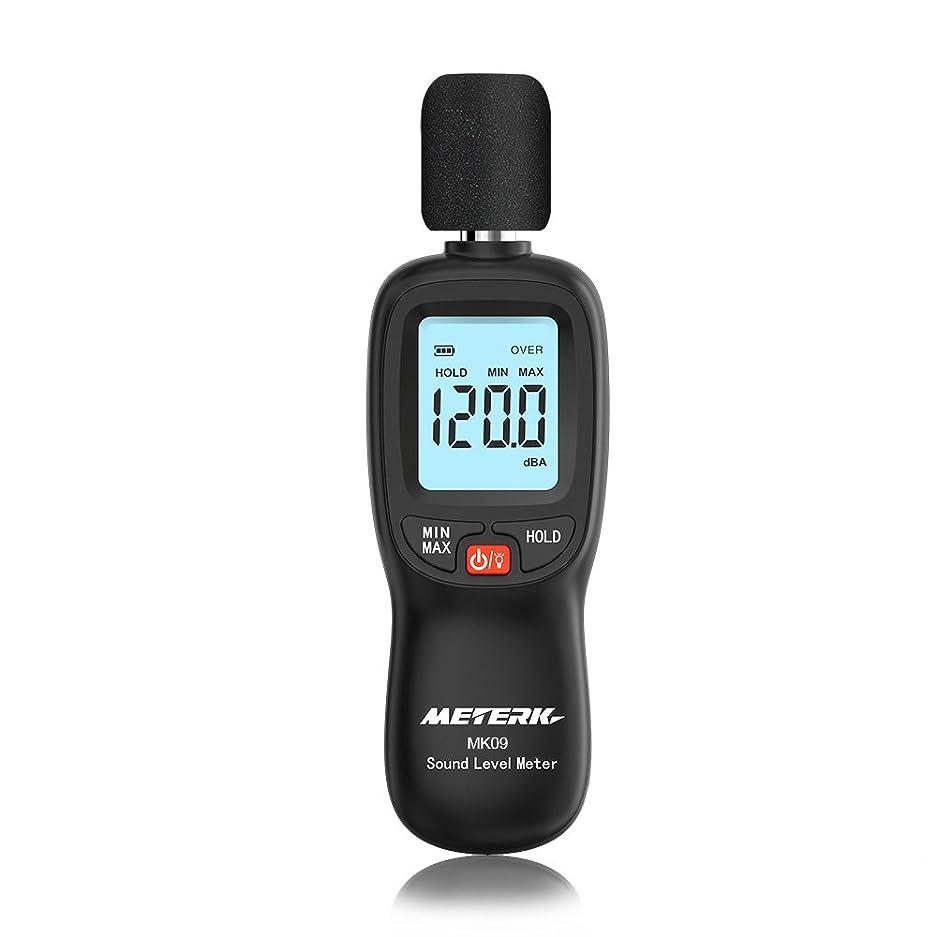 愛撫重要性略語Meterk 騒音計 騒音測定器 ノイズ測定器 サウンドレベルメーター 音量測定 手持ち LCD デジタル 30-130dB(A)電池付属