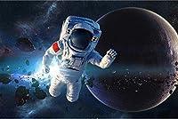 アートブラシとキャンバス数字による塗装キットDIYの子供用大人用オイルアクリル塗装キット(40cmX50cm / 16インチx 20インチフレームレス)-宇宙飛行士の写真