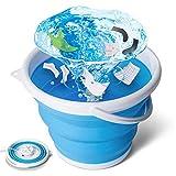 tEEZErshop Mini machine à laver, machine à laver pliable avec quatre modes de lavage - Petite machine à laver pour camping, appartements, voyages d'affaires (charge de 0,5 kg)