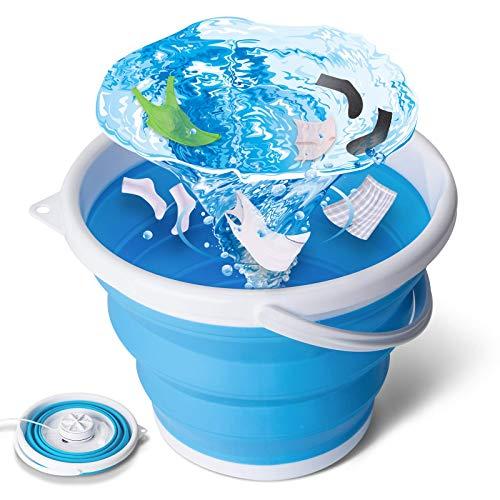 tEEZErshop Mini Waschmaschine,Camping Waschmaschine Faltbare Waschmaschine mit Vier Wäsche-Modi Ultraschall Klappwaschmaschine,Kleine Waschmaschine für Camping Apartments Geschäftsreisen(0.5kg Last)