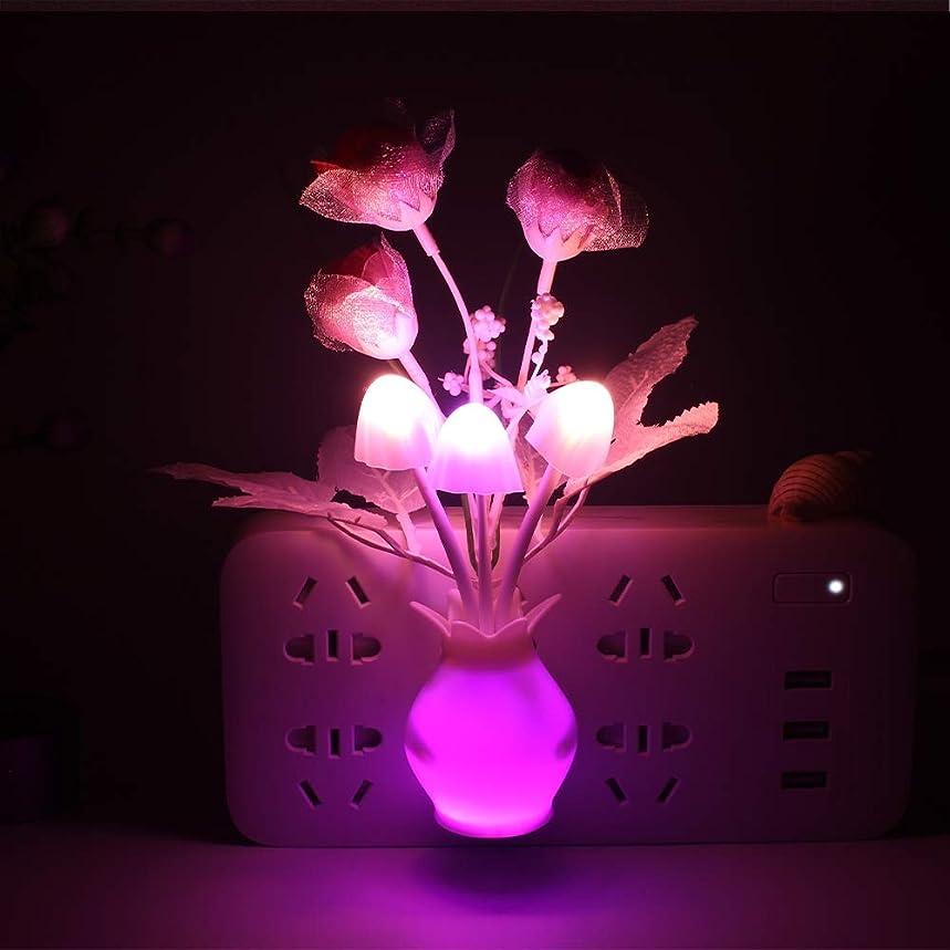 トチの実の木退屈広告LEDキノコの夜の光、米国/EUロマンチックなライトセンスコントロールの夜の光、家庭アールデコ調の照明をプラグ(10個入り),USPlug