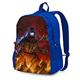 VCKTU354OI Unisex Monster_GZL Travel Laptop Backpack, Water Resistant College School Computer Bag Bookbag for Girls & Boys Outdoor Camping Blue