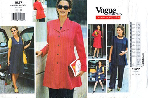 Vogue Sewing Pattern 19271997 Career Maternity Wardrobe 12-14-16