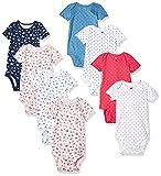 Carter's baby girls 8-pack Short-sleeve Bodysuits Bodysuit, Floral Dot, 18 Months US