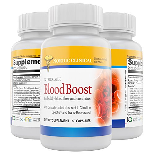 Nordic Clinical's Nitric Oxide BloodBooster [60 capsules]. Support Blood Flow & Nitric Oxide Productions.