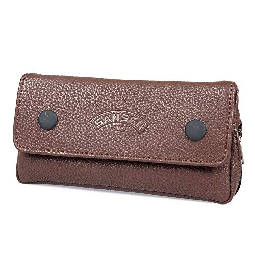 Tobacco Pipe Bag Pouch Case Pipe Pocket Pipe Tool Pocket for 1 Pipe (Brown)