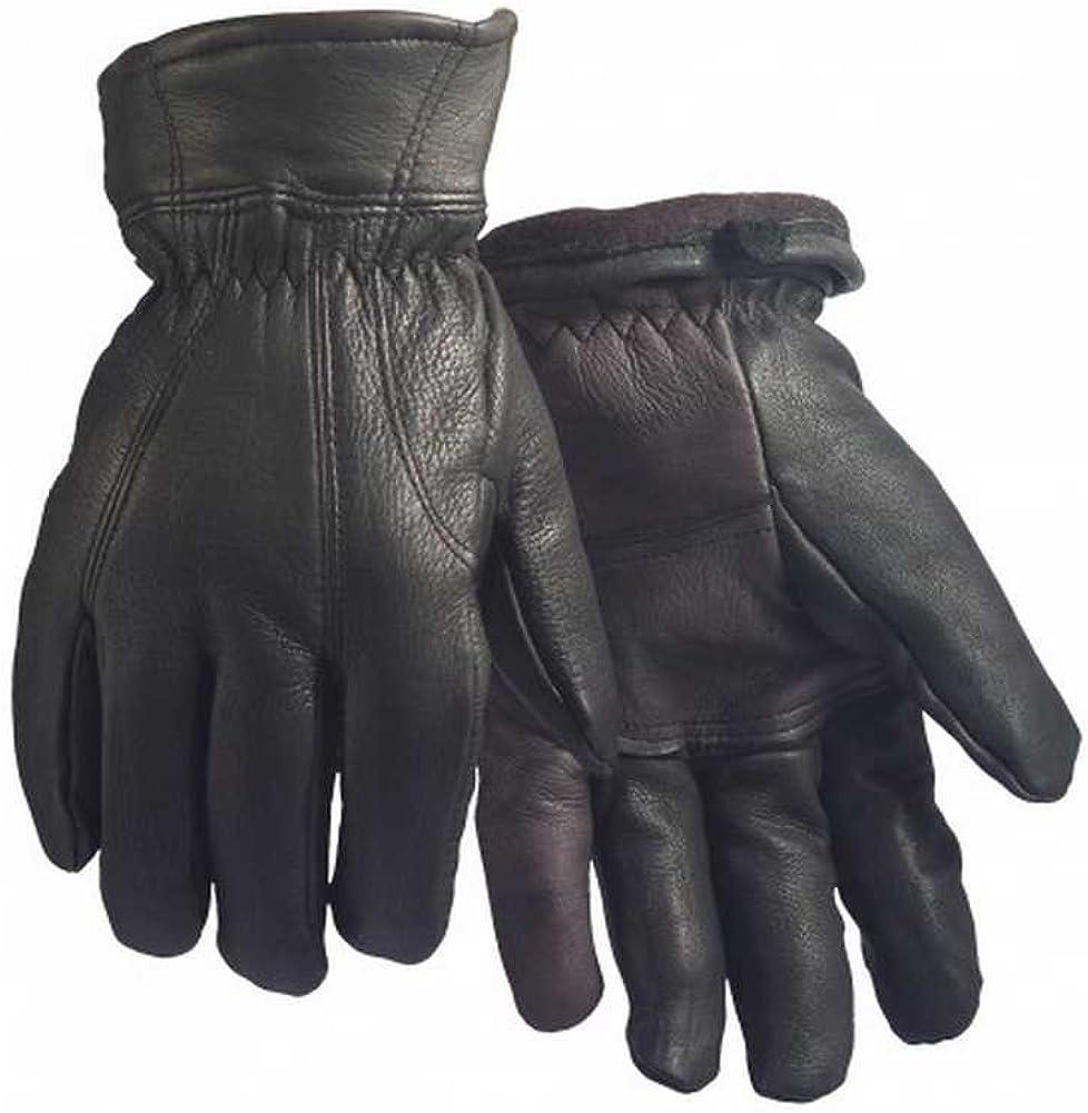 Northstar Unisex Grain Deerskin Fleece Lined Glove Flexible Thumb, Black. 911BK