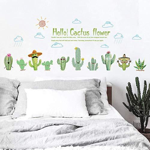 Cactus De Dibujos Animados Flor Verde Zócalo Pegatinas De Pared Sala De Estar Habitación De Los Niños Decoración Del Hogar Muebles Pegatinas Calcomanías De Arte Decoración Del Hogar