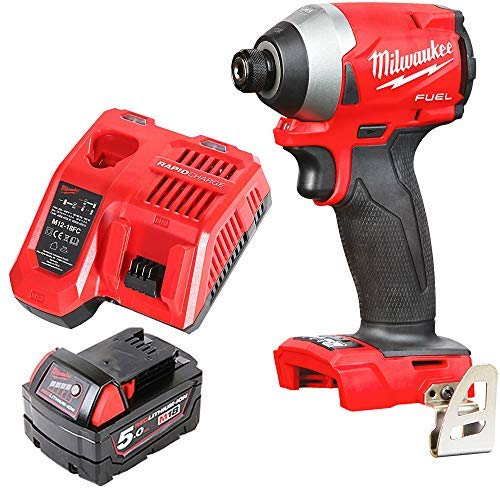 Milwaukee M18FID2 18v M18 Fuel Impact Driver with 1 x 5Ah Battery & Charger