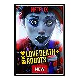 HJZBJZ Love Death & Robots TV película Lienzo Pintura Arte Carteles Impresos para la Pared del hogar decoración para Sala de Estar -50X70 CM sin Marco 1 Uds
