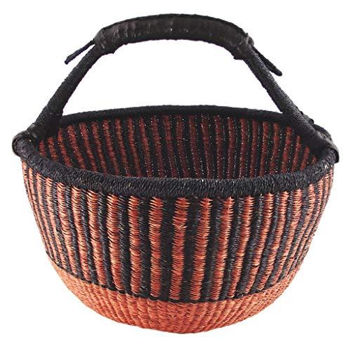 FAIR Trade KAISAGRAS UND PALMBLATT Flechtwaren Fairtrade FLECHTKORB//BROTKORB /Ø 25CM Handarbeit