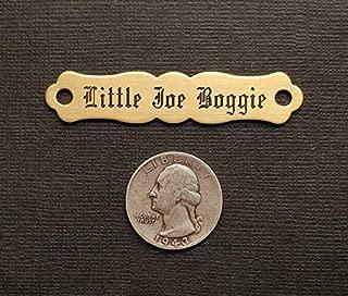 saddle name plate
