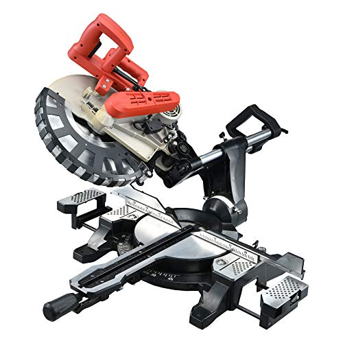 Miter Saw, SMADRON 12inch Double-Bevel Sliding Compound Glide Miter Saw...