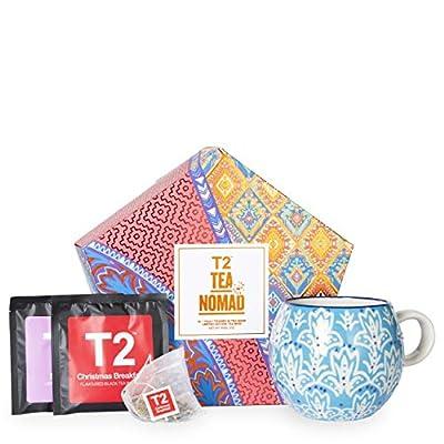 T2 Tea- Tea and Teaware Giftpack: Tea Nomad, Limited Edition Stoneware Mug with 16 Teabag Sachets