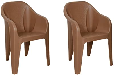 ITALICA Furniture 2019 Armchairs (Matte Finish, Camel Brown, Set of 2)