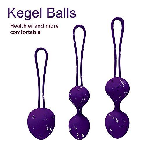 Bolas Chinas Suelo Pelvico de Silicona Medica Bolas Chinas Terapeuticas Masajeador de la Salud Kegel Ejercitador Vibrador Kegel Balls para Mujer