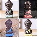 LKXZYX Decorativos Figuras Salon candelabros de Jardin Exterior Miniatura,Monjes Zen Budismo Estatuas Pequeñas Meditación Monje Artesanía en Miniatura