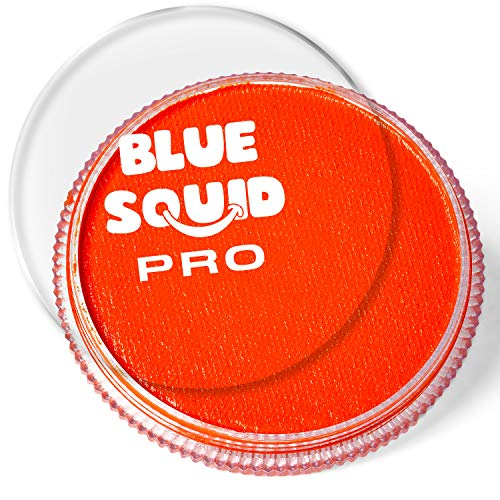 Blue Squid PRO Face Paint - Classic Orange (30gm), Quality Professional Water Based Single Cake, Face & Body Makeup Supplies for Adults, Kids & SFX