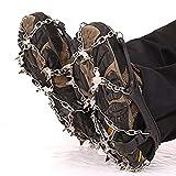 Crampones Premium para Zapatos de montaña con 19 Picos de Acero Inoxidable. Claras de Zapatos Antideslizantes Profesionales para la Nieve y la tracción de Hielo. Clases de Nieve. Gorgeous