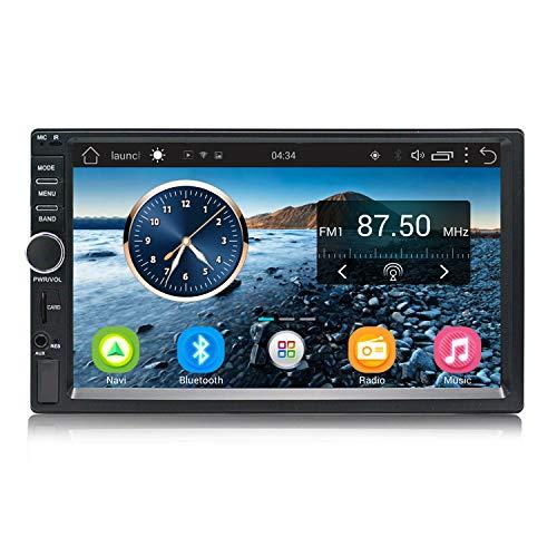 KKXXX 2 DIN Android Autoradio 7 Pulgadas Navegación GPS Quad Core 1GB RAM 16GB ROM Soporte Am FM Wi-Fi SWC BT 1024 * 600 Pantalla Táctil Enlace Espejo, KX011 Mate