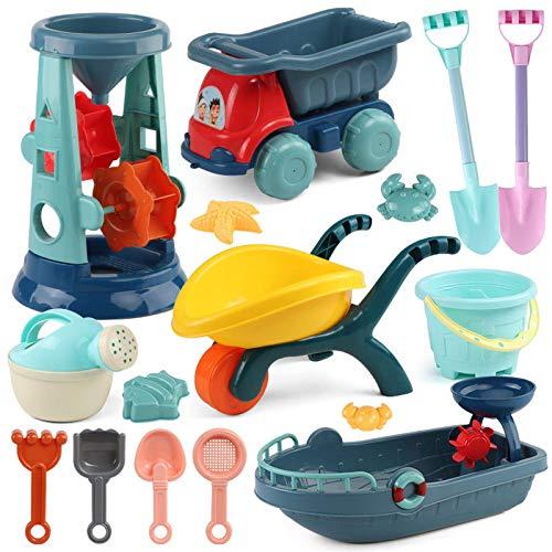 Juguetes de arenero Juguetes de playa Caja de arena Cubo de silicona y juguetes de arena Arenero Juguete de verano al aire libre Juego de agua Carro de juego Pala para niños para niños