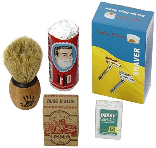 Shaving Factory Kit Complet de Rasage avec Lames