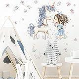 DSSK Nuevas Pegatinas DIY Globo Unicornio Pegatinas de niña habitación de los niños Elefante de Dibujos Animados Pegatinas de Pared de Animales