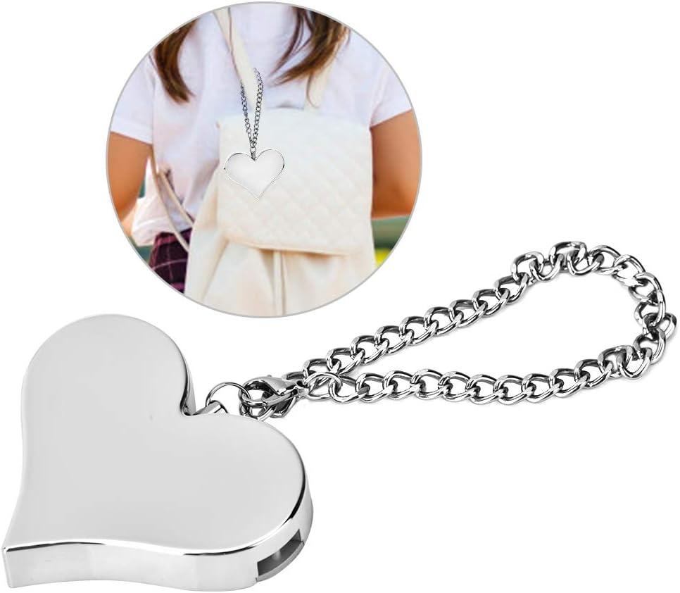 130DB Alarma de seguridad, Alarma de Emergencia Portátil autodefensa del Protector sirena para mujeres, niños(Silver)
