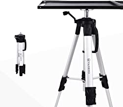 $48 » VANKYO Aluminum Tripod Projector Stand, Adjustable Laptop Stand, Multi-Function Stand, Computer Stand Adjustable Height 17'' to 46'' for Laptop with Plate and Carrying Bag (1-Silver)