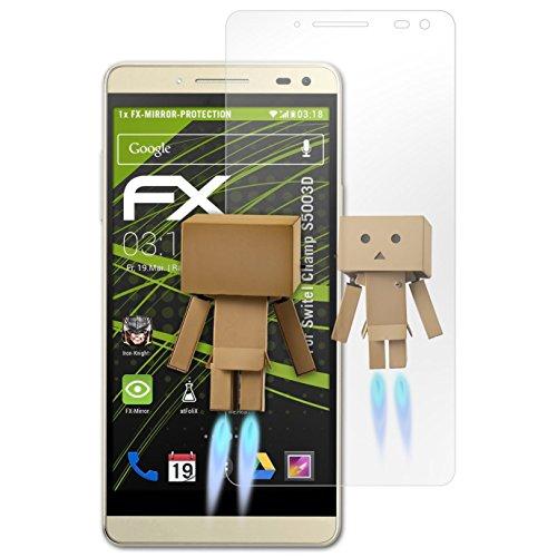 atFolix Bildschirmfolie kompatibel mit Switel Champ S5003D Spiegelfolie, Spiegeleffekt FX Schutzfolie