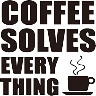 MDecal Coffee Series Coffee Solves Every Thing for Laptop Car Cup Mug Handmade Die Cut Vinyl Decal Sticker